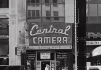 Central Camera - Pedestrians pass by Central Camera, a photo store in business since 1899, Chicago, IL, September 2017 (Busch Pressman 4x5, 150mm, Arista EDU 100) - Kenneth Wajda Photographer