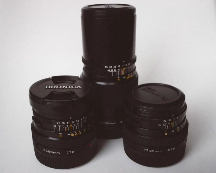 Bronica SQ-Ai - Lenses - 50mm f/3.5, 90mm f/2.8, 250mm f/5.6