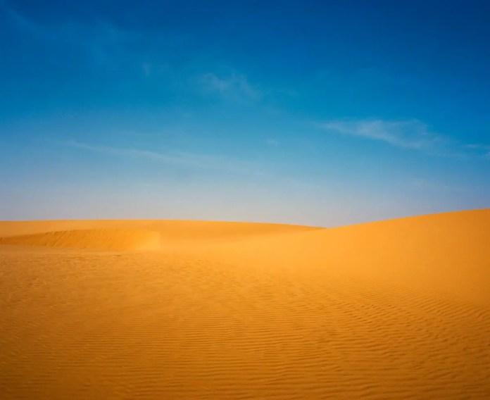 Desert Blue and Gold Sudan - Mamiya 7II, Kodak Portra 400