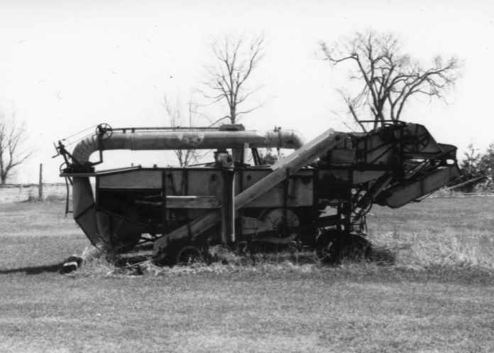 Farm Machine, Ilford Pan F, ISO 50, Canon AE-1, 50 MM Lens, Chazy, NY