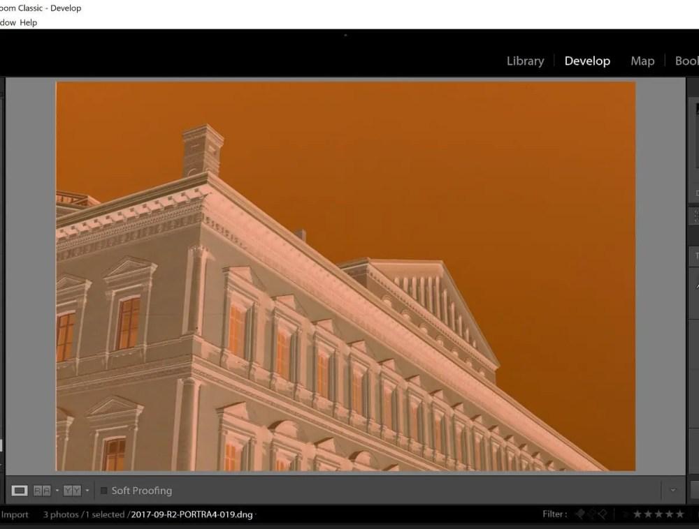 Plustek 8200i - A scanned HDR RAW image open in Lightroom