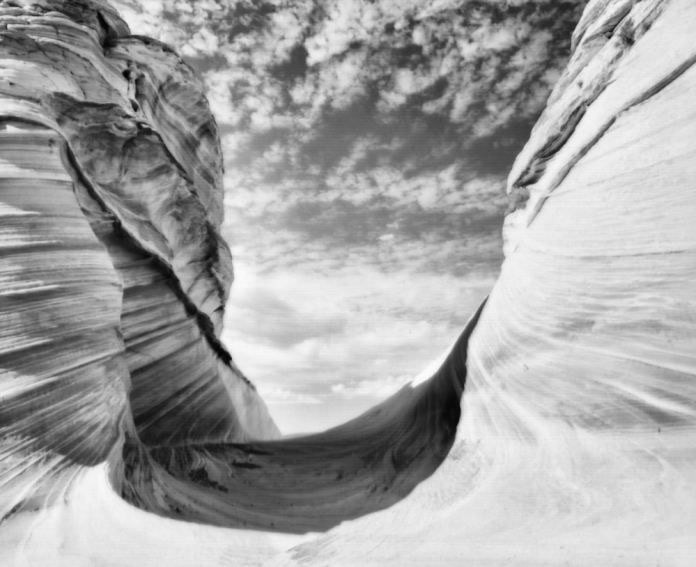 """RB67 Pro S from the Wave at Coyote Buttes taken in 2012 on Ilford Delta 100 titled """"Passageway of Life"""""""