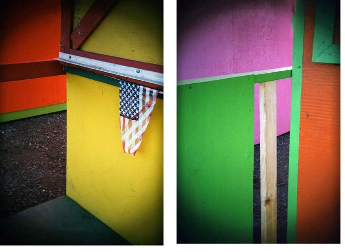 Close-ups of the colorful fireworks' shacks in the Swinomish reservation allow me to play with abstract form and color, using the Holga 135BC. Lomography Color Negative 400 film.