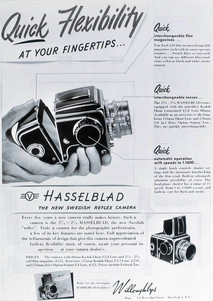 Hasselblad 1600F Advert