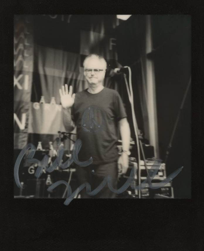 Polaroid AF Sun 660 camera, The Impossible Project B&W film (Bill Frisell at Gărâna Jazz Festival 2017, Romania)