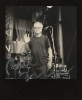 Polaroid AF Sun 660 camera, The Impossible Project B&W film (Bill Frisell at Gărâna Jazz Festival 2017, Romania)