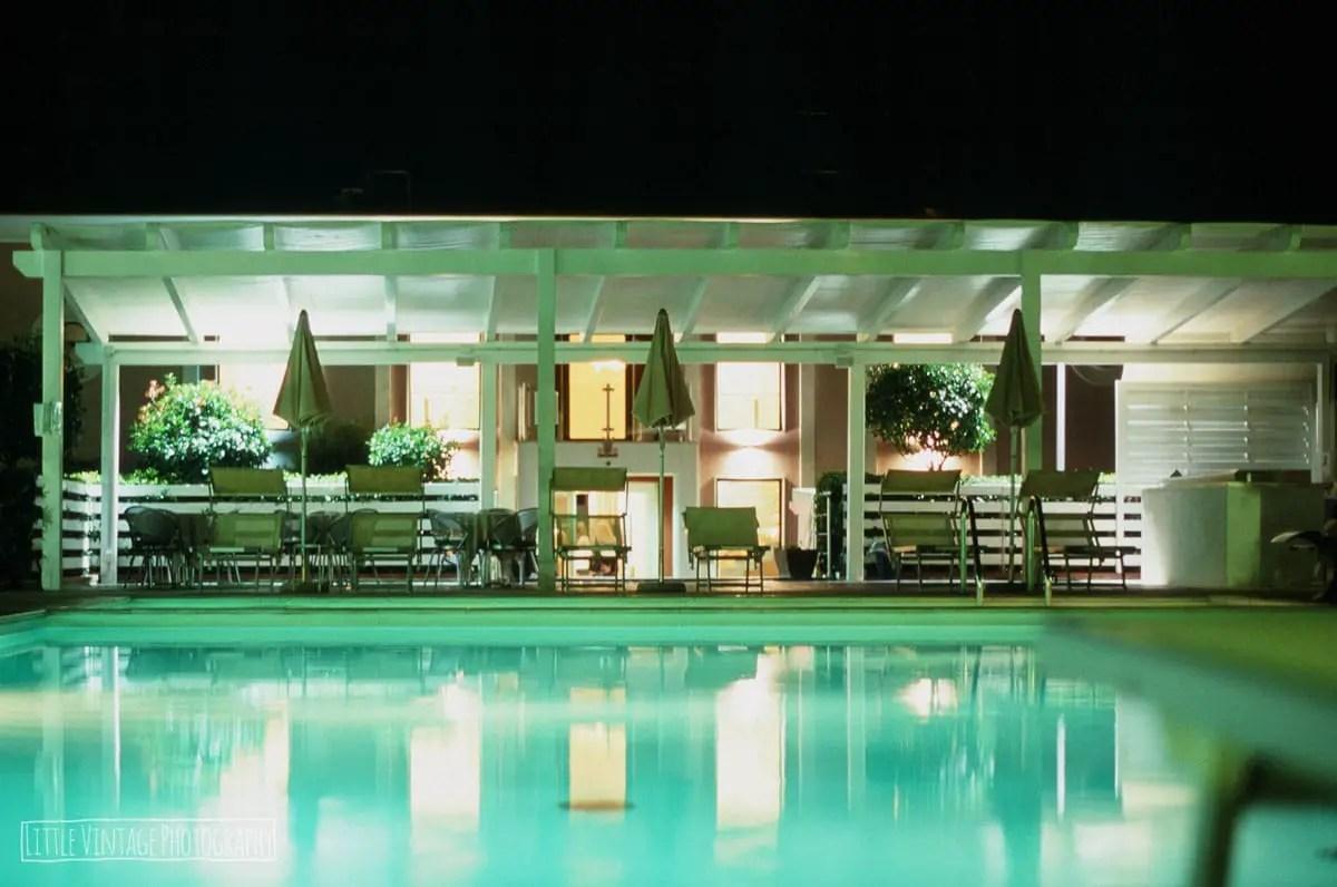 Swimming Pool, Italy, 2017. Shot with Olympus OM30 on Fuji Velvia 100