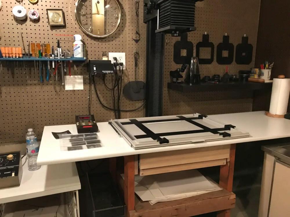 Saunders LPL 4x5 Enlarger and drawer