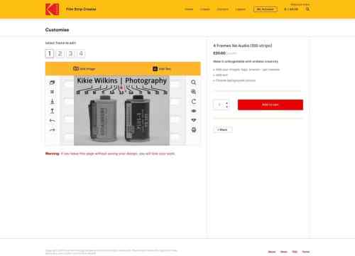 Kodak Film Strip Creator - Project page