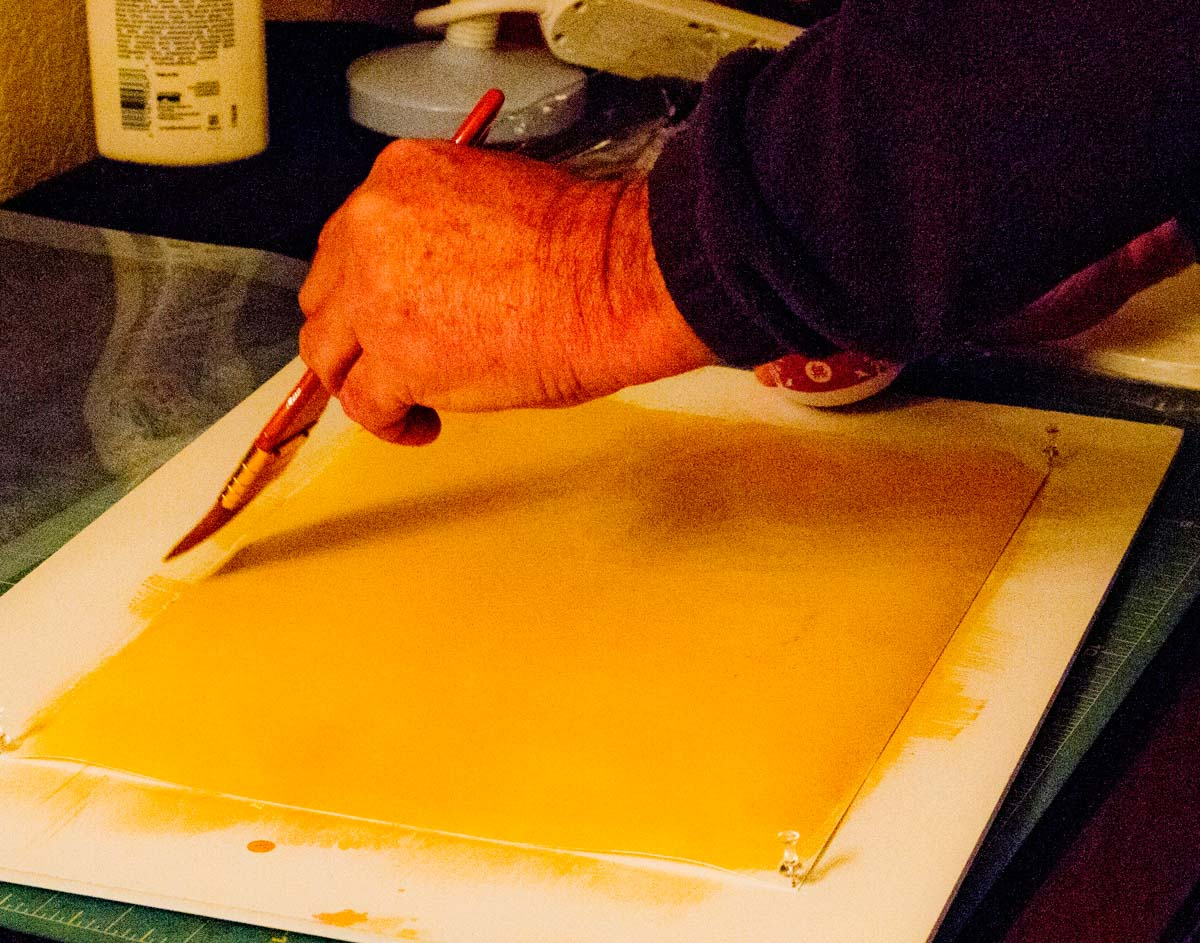 An introduction to Platinum/Palladium printing - Applying the emulsion