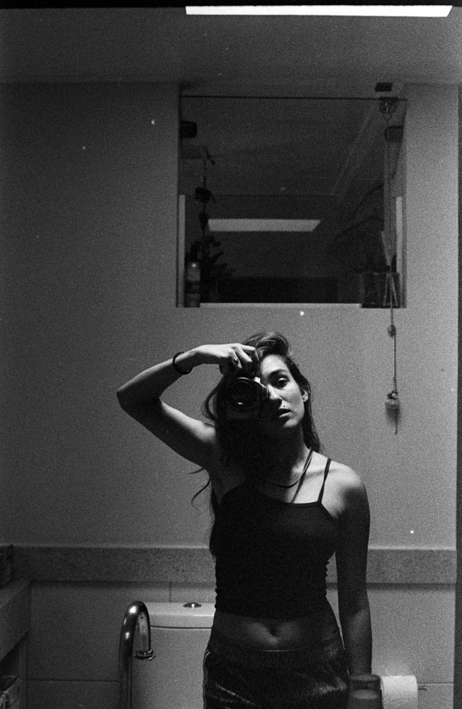 Self portrait shot on Kodak Tri-X 400