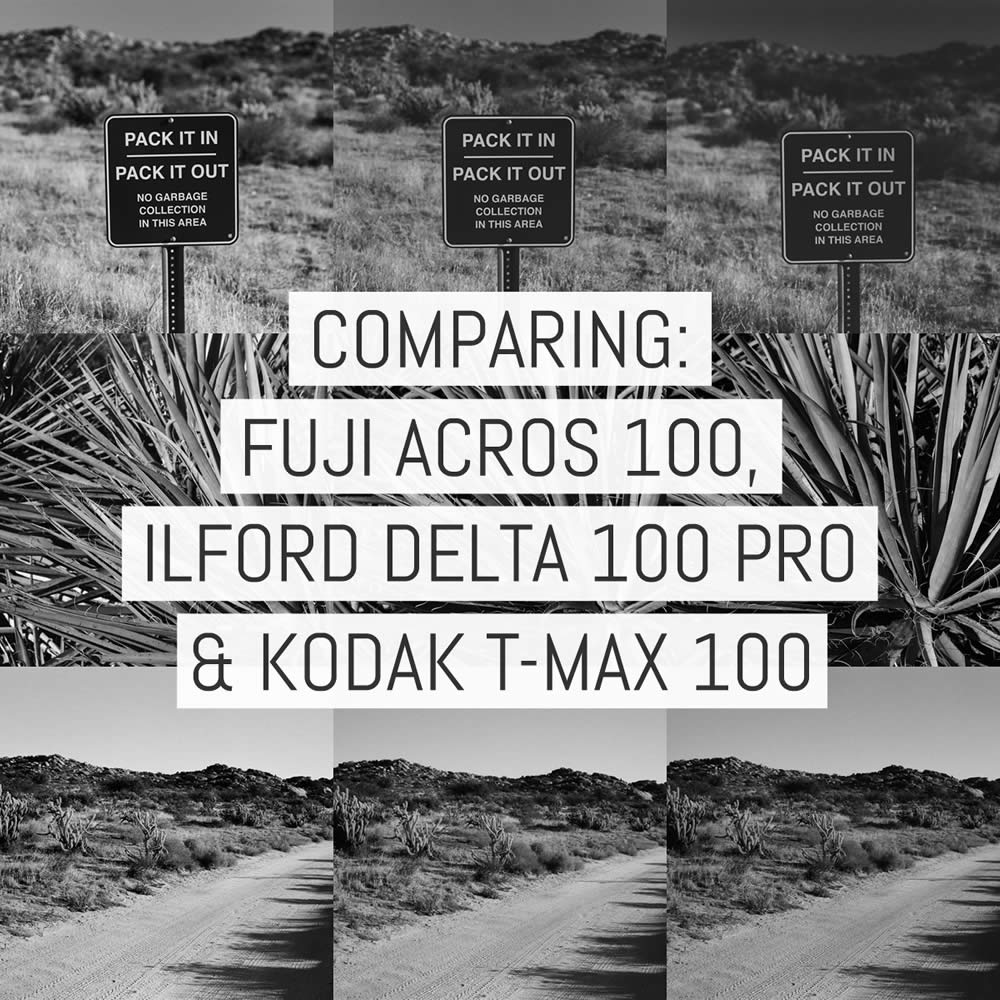 Film review: comparing Fuji ACROS 100, ILFORD Delta 100 Professional and Kodak T-MAX 100 - by Daniel Marinelli