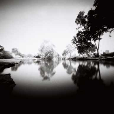 At the River Bank, Rollei Ortho 25, Reality So Subtle 6x6 pinhole.