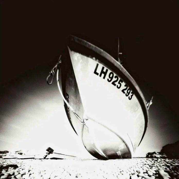 Boat at Etretat, ILFORD Pan F PLUS