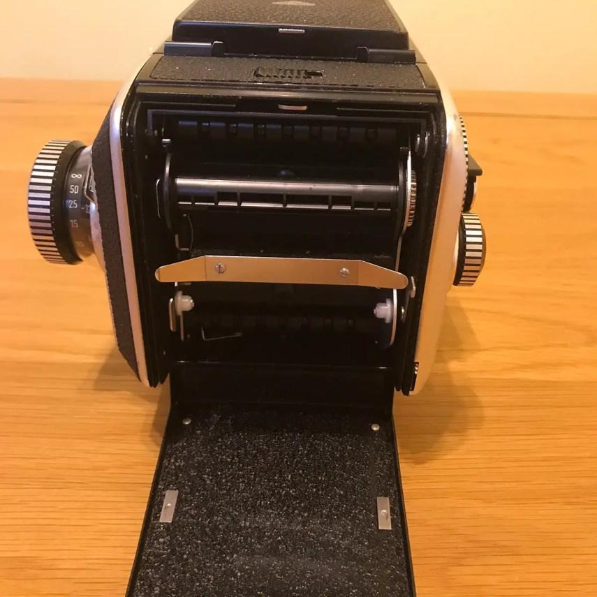 Rollei SL66 - Film Back (door open)