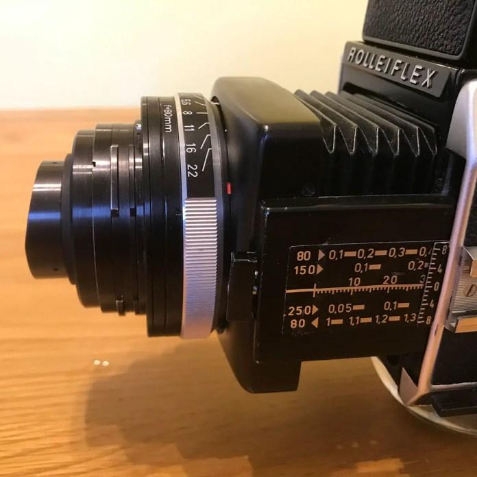 Rolleiflex SL66 - Macro (retro-mount)