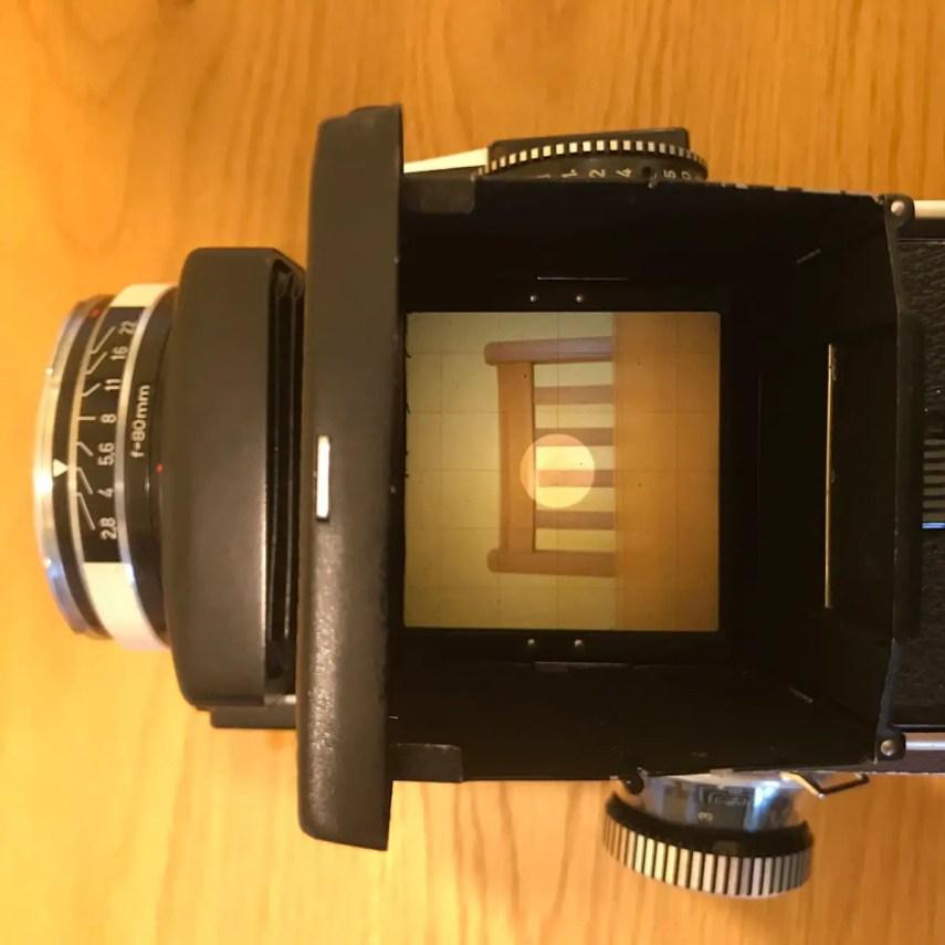 Rolleiflex SL66 - Top