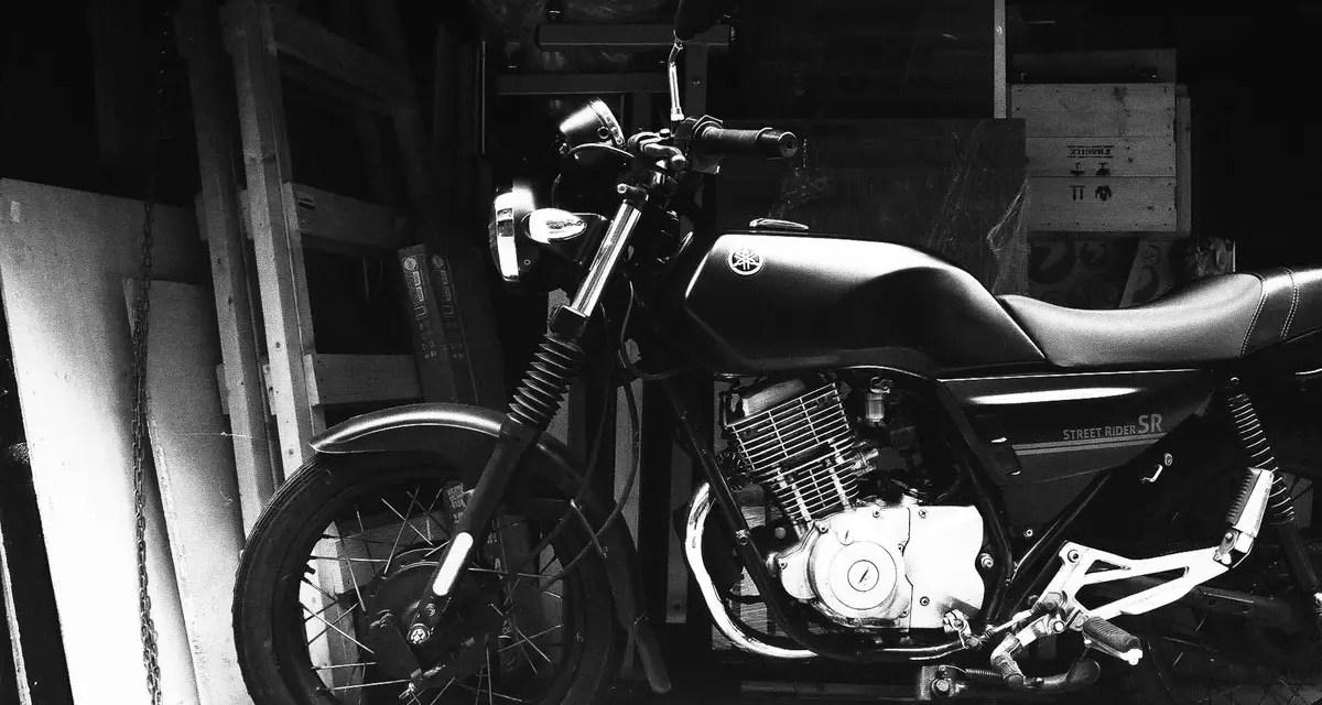 Street rider – Shot on Rollei Infrared 400 at EI 400 (35mm format)