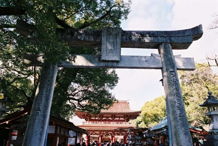 To the gate - Shot on Fuji Superia Premium 400. Color negative film in 35mm format film.