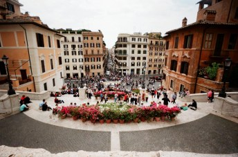 Spanish Steps, Rome:The weather again was pretty bleak, and yet... the Waiwai gave me the best shot of the day.