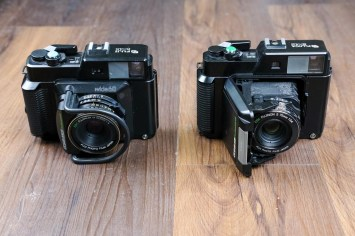 Fuji GS645S (left) & GS645 (right) - Front