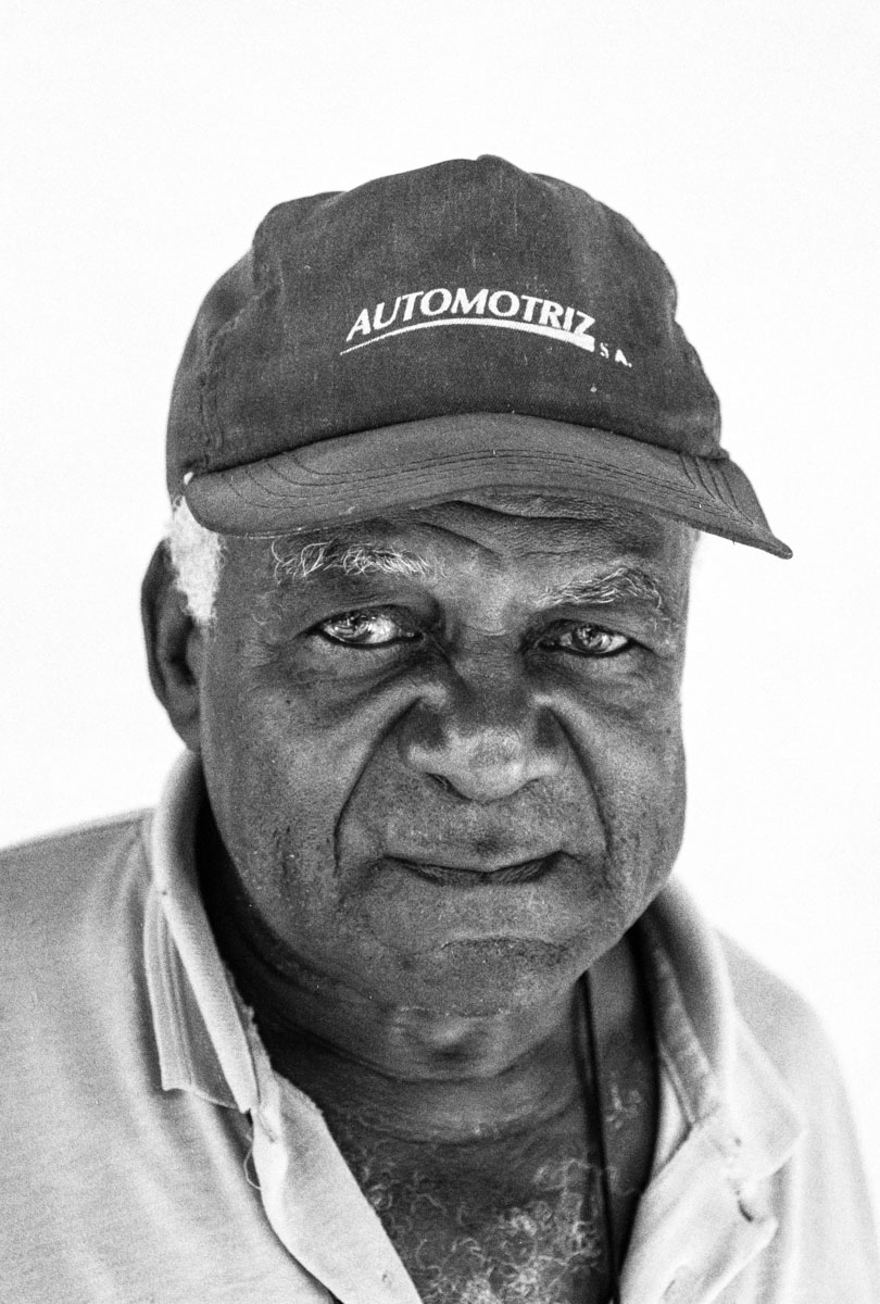 ILFORD Delta 400 Professional / 35mm, Nikon F55. Cemetery worker in Havana, Cuba. December 2003.