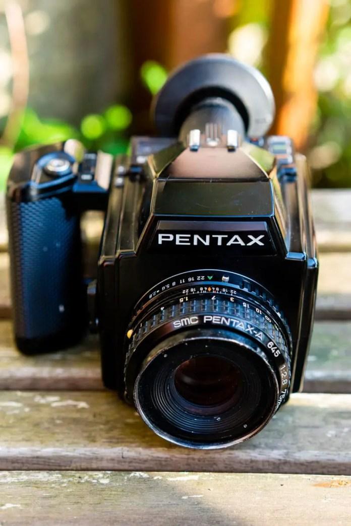 Pentax 645 - top down