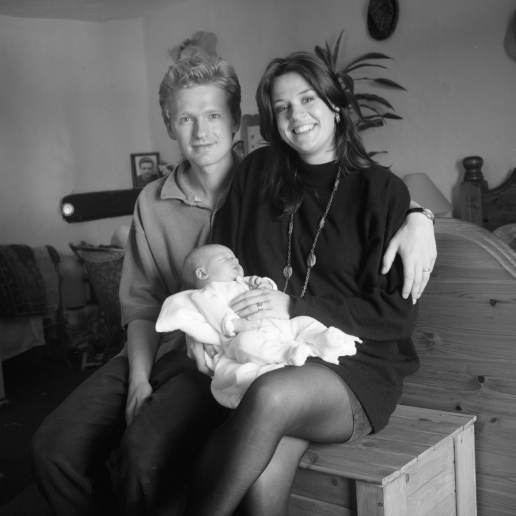 Yashica Mat 124 - Baby Ione with Mum and Dad, Kodak T-MAX 100