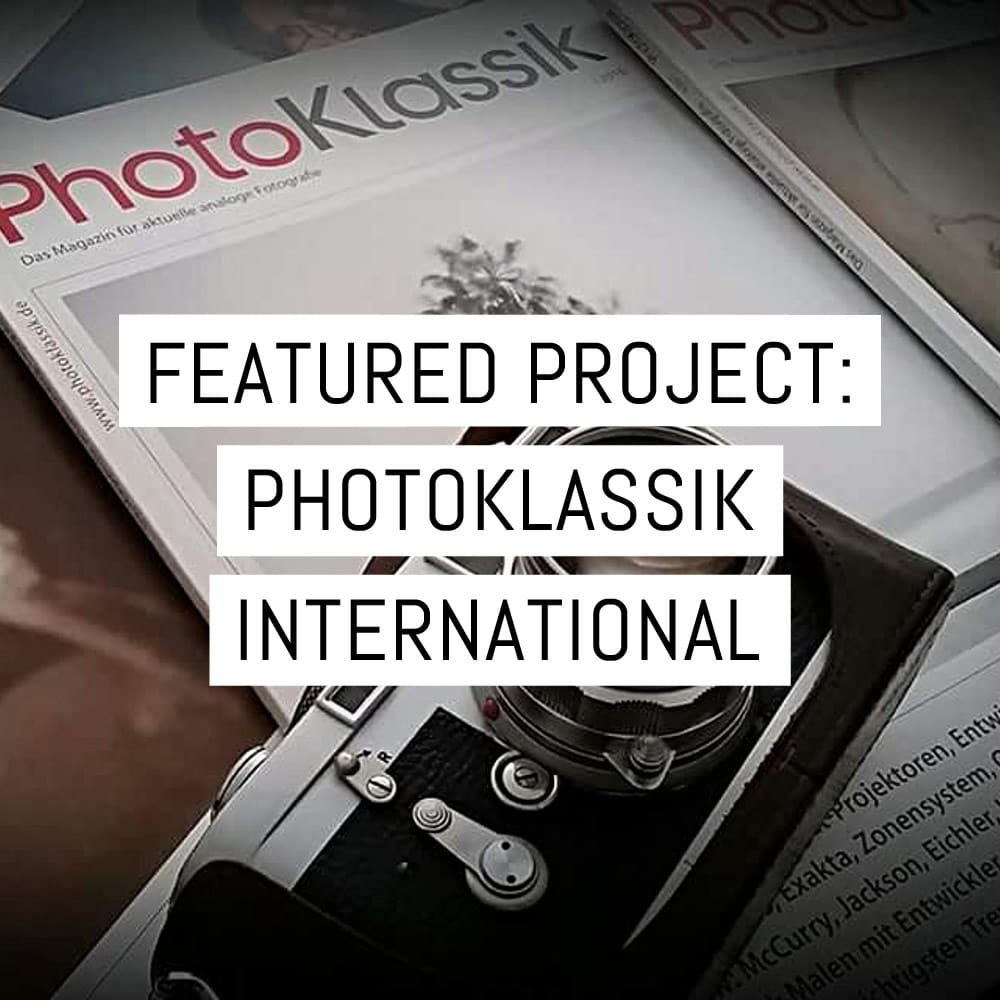 Featured project: PhotoKlassik International magazine - issue one on Kickstarter