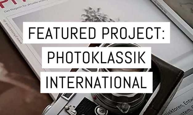Featured project: PhotoKlassik International magazine – issue one on Kickstarter