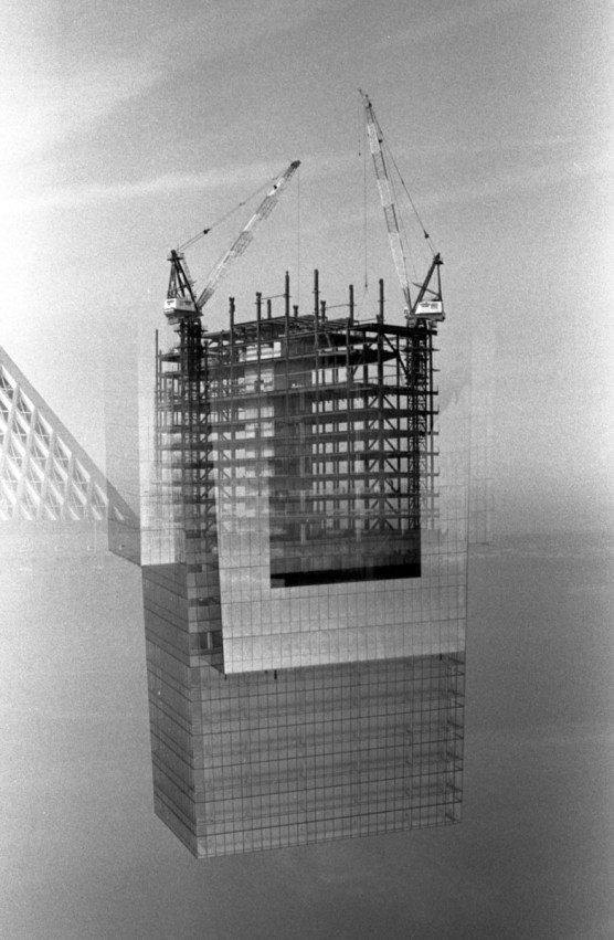 Bouyed Construction - Canon T90, 90mm f2.8 - 35mm ILFORD HP5 PLUS, EI 800, Rodinal