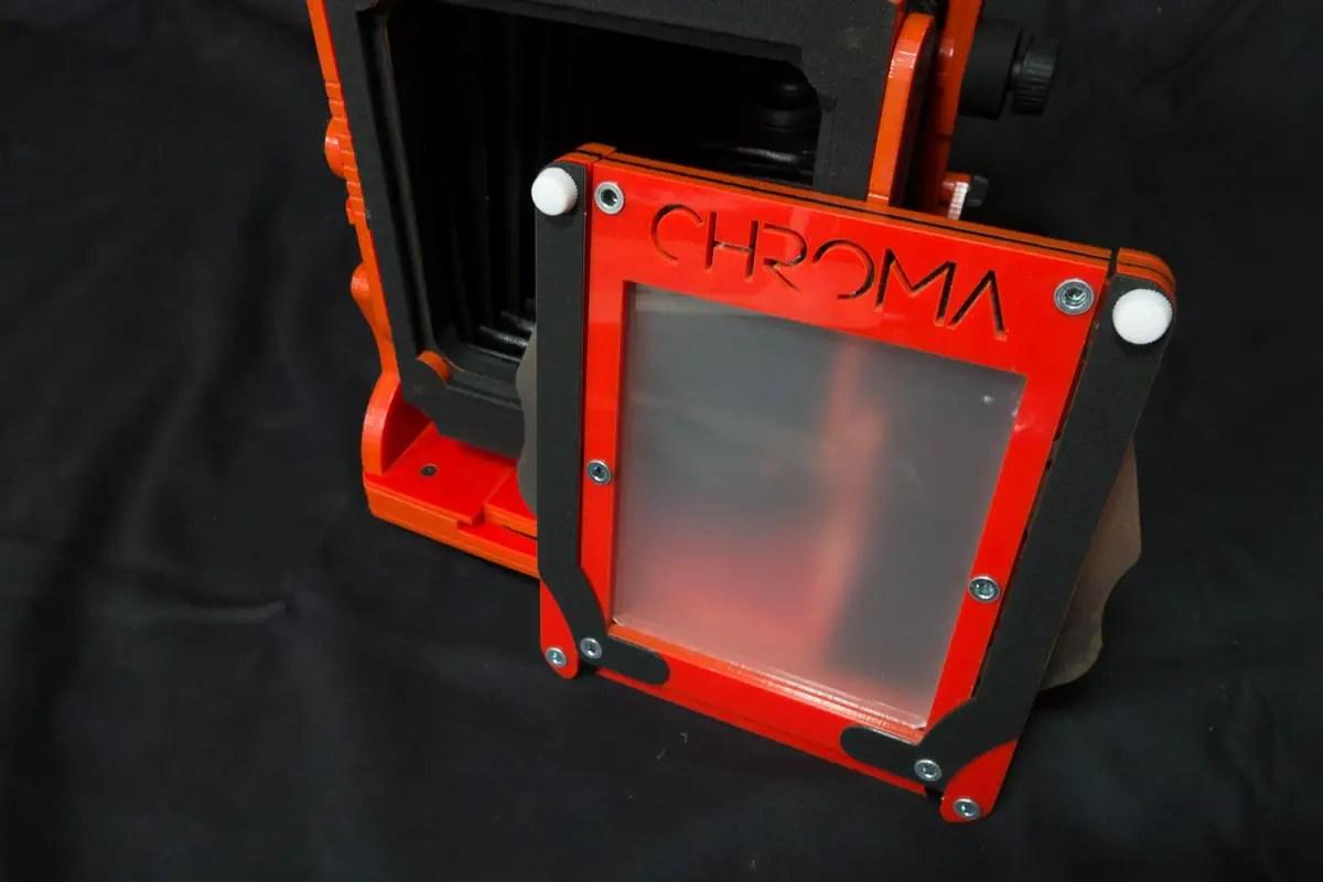 Chroma 4x5 review - Rotating film holder orientation