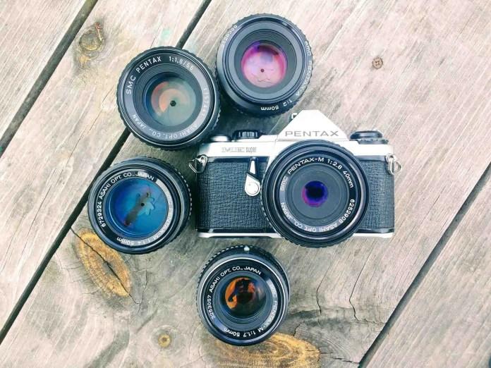 My Pentax ME Super + lens family