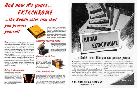 1946, November - Kodak EKTACHROME advertisement, Popular Photography