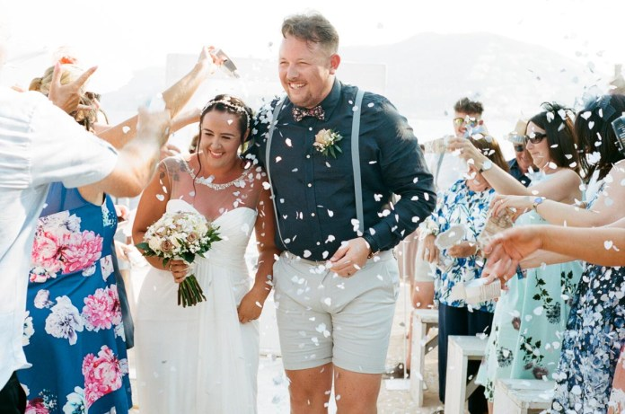 Just married - Aidan and Becca's wedding - Kodak Portra 400 - Ted Smith