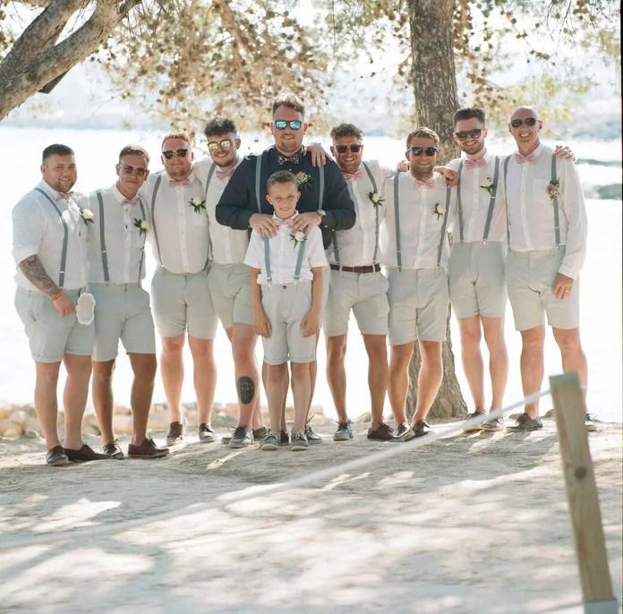 The groom and groomsmen - Aidan and Becca's wedding - Kodak Portra 400 - Ted Smith