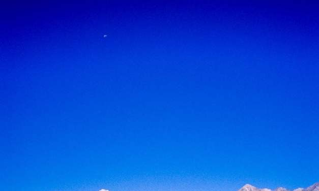 The moon and the mountains – Shot on Kodak EKTACHROME 100VS (E100VS) at EI 100 (35mm format)