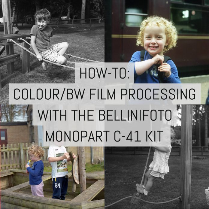 How-to: Colour and BW film processing with the BelliniFoto Monopart C-41 kit