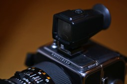 Hasselblad 903 SWC and optical viewfinder (front)