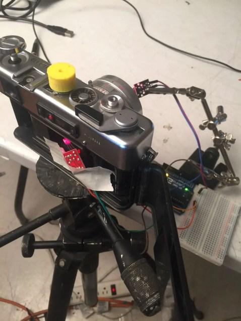 My Arduino shutter tester setup.