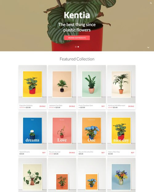 Shopify - Kentia Theme