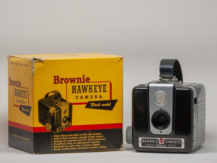 Kodak Brownie Hawkeye Flash Model with packaging