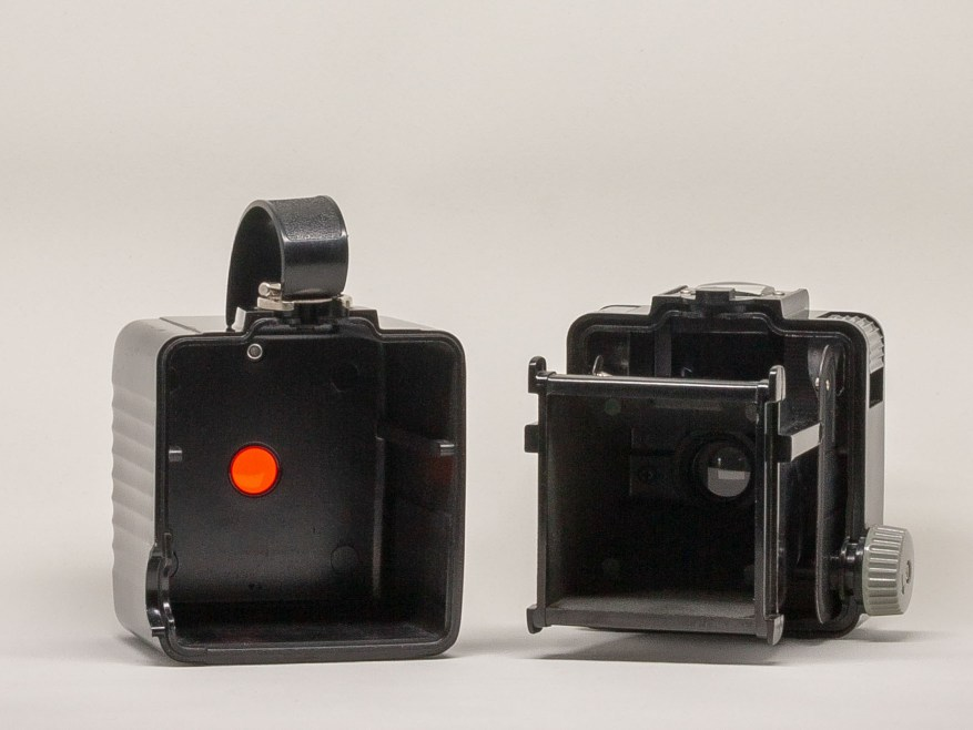 Kodak Brownie Hawkeye Flash Model - Front and back halves