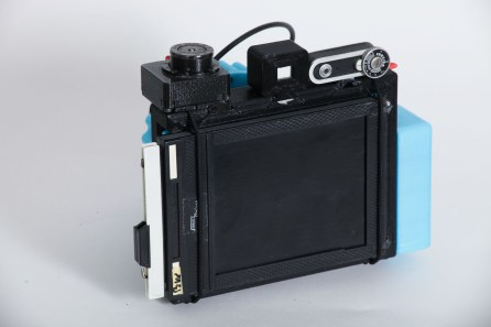 CAMERADACTYL OG 4x5 sheet film holder (DDS) installed as a ground glass cover