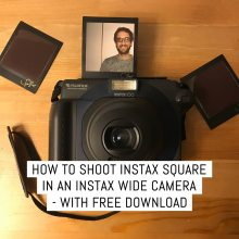 Cover - How to shoot Instax Square in an Instax Wide camera - with free download