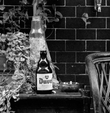 Duvel - Shot on Lomography Berlin 400 at EI 800. Black and white motion picture film in 35mm format. Push processed 1-stop. Fuji GW690III + EBC Fujinon 90mm f/3.5.