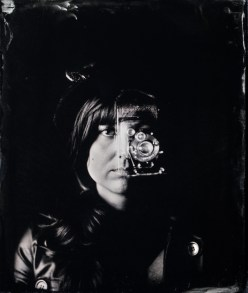 Steampunk double exposure shot handheld with a self-modified mentor World War I camera - 4x5 collodion wetplate