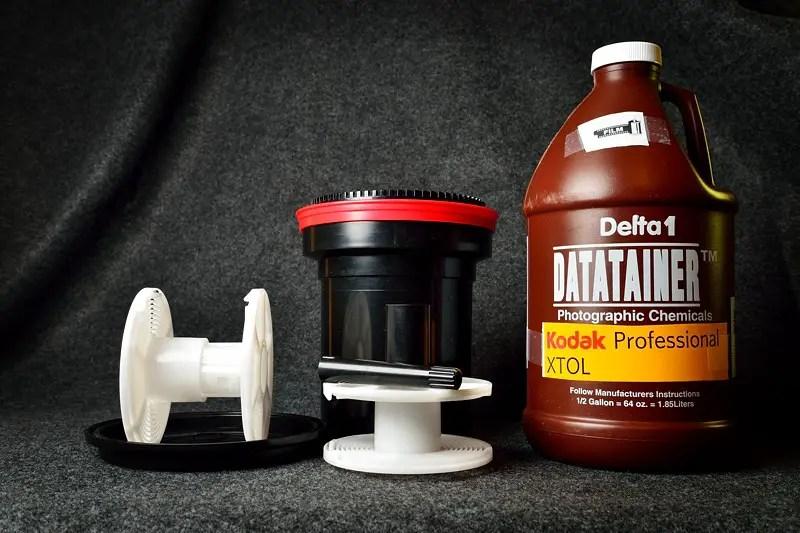 Patterson film developing tank and Kodak XTOL