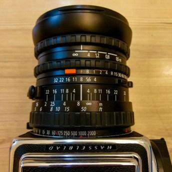 Zeiss Distagon CFi 50mm f4 - Lens in F (focal plane shutter) mode.
