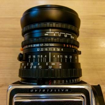 "Zeiss Distagon CFi 50mm f4 - Lens in ""normal"" (in-lens shutter) mode."